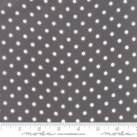"""Bloomington""-Charcoal Parisian Dot by Lella Boutique for Moda"