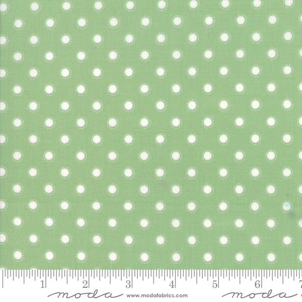 """Bloomington""-Sage Parisian Dot by Lella Boutique for Moda"