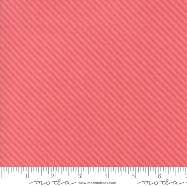 """Bloomington""-Rose Candy Stripe by Lella Boutique for Moda"