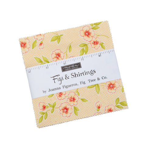 """Figs Shirtings"" Charm Pack 5"" x 5"" 42pcs by Fig Tree Quilts"