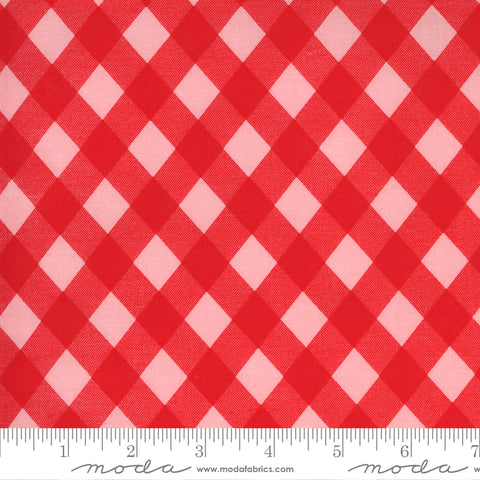 """Sunday Stroll""-Picnic Gingham Red by Bonnie & Camille for Moda"