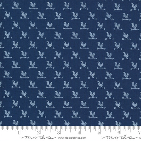 """Break Of Day""-Weathervane Navy by Sweetfire Road for Moda"