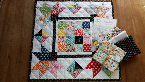 Picking Petals Kit-Mini Quilt-by Taunja Kelvington for Carried Away Quilting with Hope Chest 2 fabric
