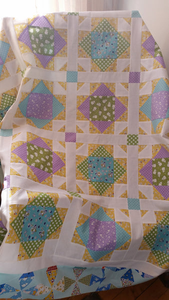 Shoofly Crossing Quilt Kit in Toy Chest 2 by Taunja Kelvington of Carried Away Quilting
