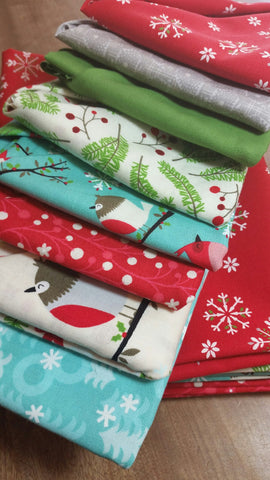 """Jingle Birds Delight""-Bundled Beauties Fat Quarter Bundle"