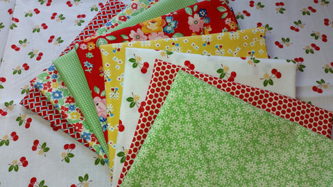 """Cherry Bouquet""-Bundled Beauties Fat Quarter Bundle"