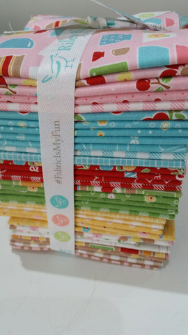 """Bake Sale 2"" FAT QUARTER BUNDLE 33 PCS by Lori Holt of Bee in My Bonnet for Riley Blake"
