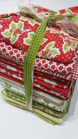"""Christmas Figs"" FAT QUARTER BUNDLE 26 Pieces- 18""x22"" cuts by Fig Tree Quilts for Moda"