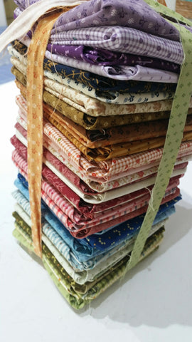 """Modern Antiques"" FAT QUARTER BUNDLE 37  Pieces- 18""x22"" cuts by Rose Ann Cook Collection for Benartex"