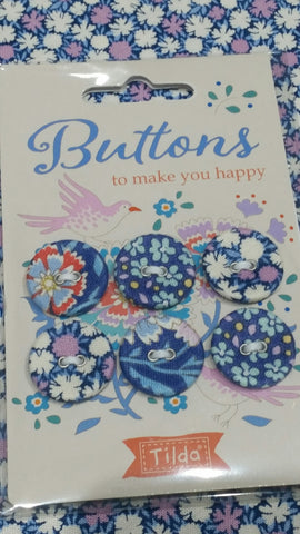 Tilda Bird Pond-Buttons to Make You Happy 20mm, 6 pcs