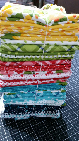 """All Weather Friend"" 30 piece Fat Quarter Bundle by April Rosenthal Prairie Grass for Moda"