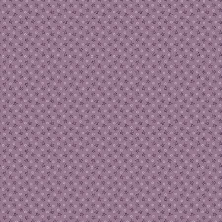 """Modern Antiques"" Violet Rose Buds by Rose Ann Cook for Benartex"