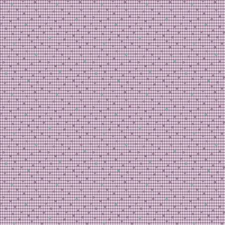 """Modern Antiques"" Violet Dots by Rose Ann Cook for Benartex"