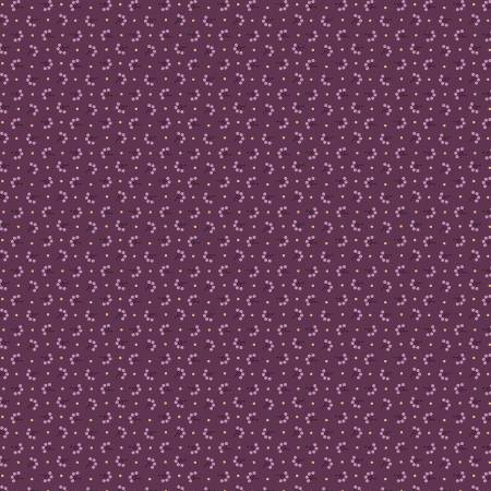 """Modern Antiques"" Plum Florets by Rose Ann Cook for Benartex"