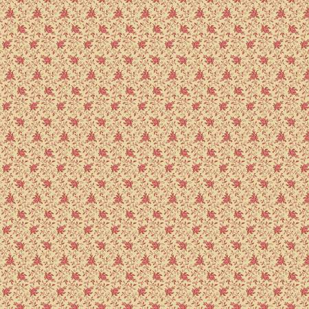 """Modern Antiques"" Coral Flowers by Rose Ann Cook for Benartex"