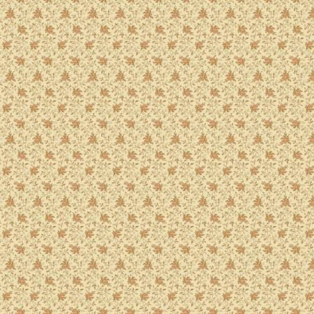 """Modern Antiques"" Beige Flowers by Rose Ann Cook for Benartex"