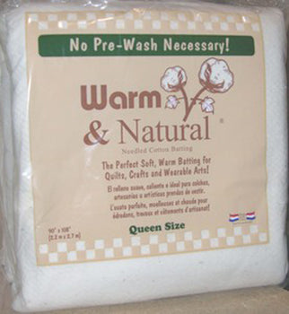 Warm & Natural Batting Queen Sz 100% Cotton