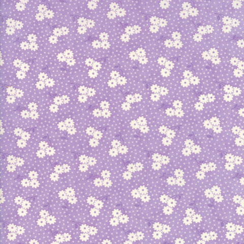 """Lavender""-Floral Kids Dotty Daisy Lavender 30's Playtime 2017 by Chloe's Closet for Moda"