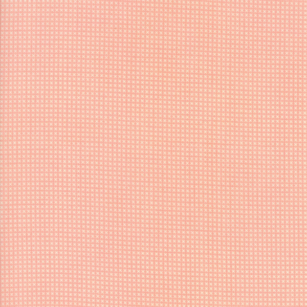 """Pink""-Floral Kids Cross Stitch Pink 30's Playtime 2017 by Chloe's Closet for Moda"