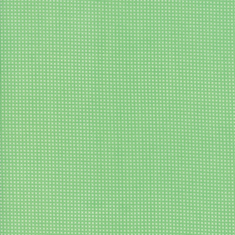 """Light Green""-Floral Kids Cross Stitch Light Green 30's Playtime 2017 by Chloe's Closet for Moda"