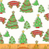 """White Christmas Trees""- Storybook Christmas Collection by Whistler Studios for Windham"