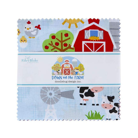 """Down on the Farm""- 42 pc 5 Inch Stacker by Doodlebug Design Inc."