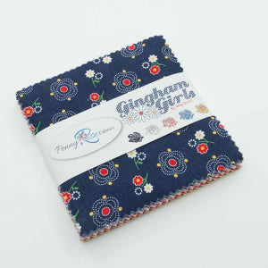 """Gingham Girls"" 5"" Stacker 42 Pcs. by Amy Smart of Diary of a Quilter for Penny Rose Fabrics"