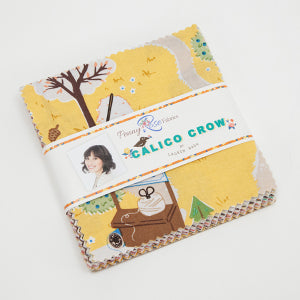 """Calico Crow""- 42 pc 5 Inch Stacker by Lauren Nash"