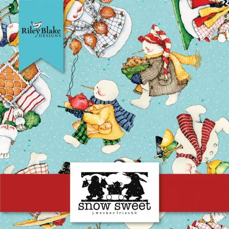 """Snow Sweet"" 5in Squares, 42pcs by J. Wecker Frisch for Riley Blake"