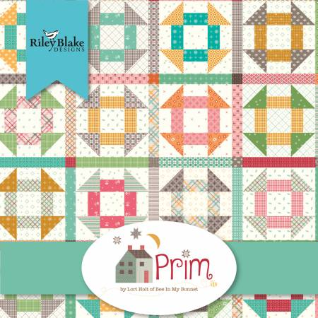 """Prim"" FAT QUARTER BUNDLE 42 - 18""x22"" cuts by Lori Holt of Bee in My Bonnet for Riley Blake"