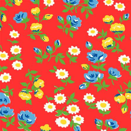 """Sugar Sack"" Red Mini Floral from Windham for Whistler Studios"