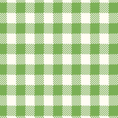 """Sugar Sack"" Green Gingham Check from Windham for Whistler Studios"