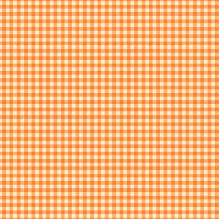 """Trixie""- Tangerine Gingham by Heather Ross for Windham"