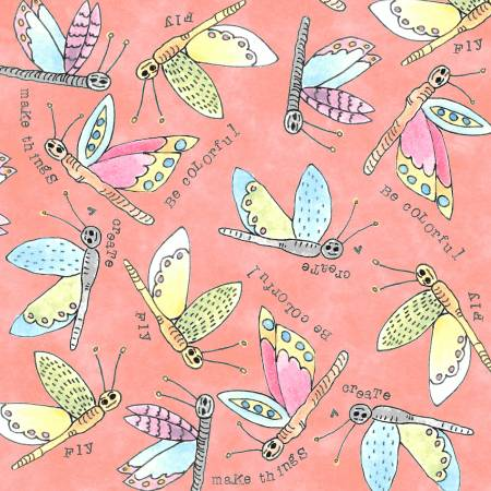 """Potpourri""-Nectar Flying Critter by Laura Heine for Windham Fabrics"