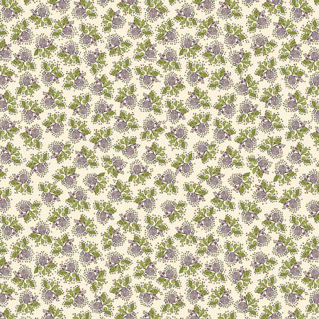 """Bubbies Buttons & Blooms""-White Floral by Kori Turner Goodhart for Windham Fabrics"