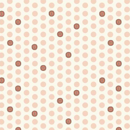 """Bubbies Buttons & Blooms""-Pink Button Dots by Kori Turner Goodhart for Windham Fabrics"