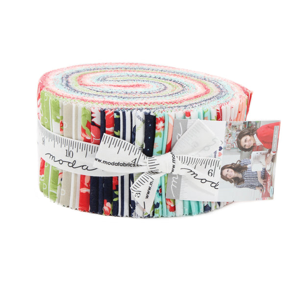 """Smitten"" 40 piece Jelly Roll 2.5"" x 44"" by Bonnie & Camille for Moda"