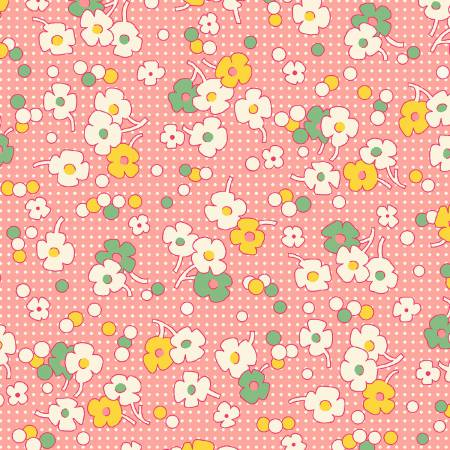 """Nana Mae II"" Pink Floral Dot 1930's Collection from Henry Glass"