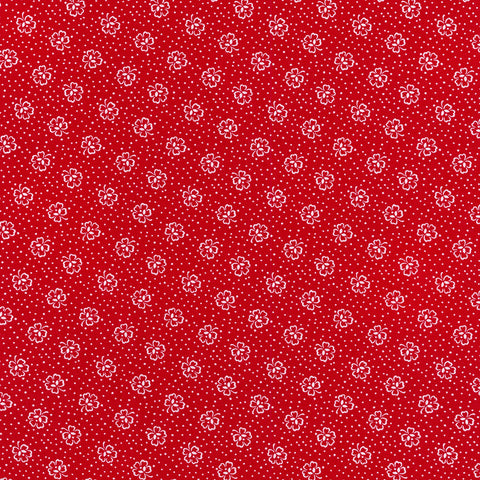 """Windowsill Garden""- Red Flower 1930's Reproduction Print by Darlene Zimmerman for Robert Kaufman"