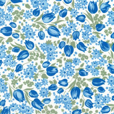 """Sunshine Garden""- Evening 1930's Reproduction Print by Darlene Zimmerman for Robert Kaufman"