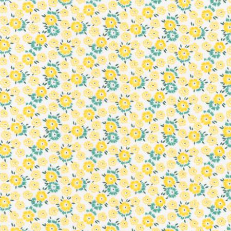 """Sunshine Garden""- Yellow 1930's Reproduction Print by Darlene Zimmerman for Robert Kaufman"