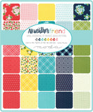 """All Weather Friend"" 42 piece Asst Charm Pack 5"" x 5"" by April Rosenthal for Moda"