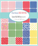 """Feed Sacks: Red Rover""  Charm Pack by Linzee Kull McCray for Moda"
