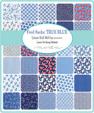 """Feed Sacks: True Blue"" 30 piece Fat Eighth Bundle by Linzee Kull McCray for Moda"