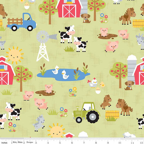 """Down on the Farm"" Main Green by Doodlebug Design Inc."