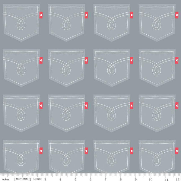 """Down on the Farm"" Pockets Gray by Doodlebug Design Inc."