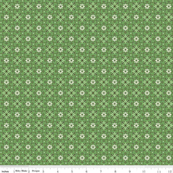 """Flea Market""- Wallpaper Clover by Lori Holt of Bee in My Bonnet for Riley Blake"