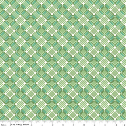 """Flea Market""- Plaid Green by Lori Holt of Bee in My Bonnet for Riley Blake"