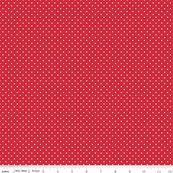 """Swiss Dot""-Swiss Dot Red by Riley Blake Designs for Riley Blake"
