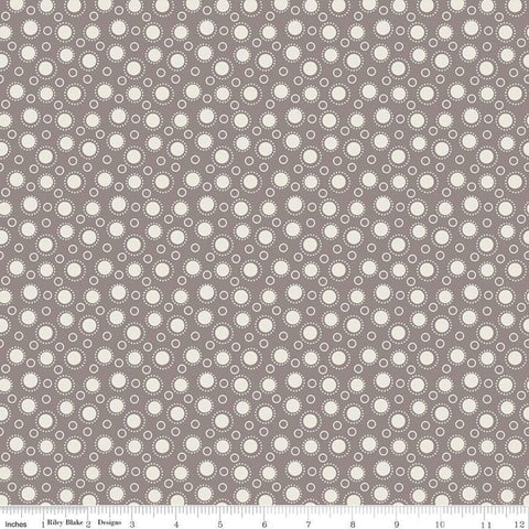 """Lemonade Sundae""  Lemonade Sundae Spot Gray by Leonie Bateman for Penny Rose Fabrics"